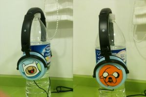 Adventure Time Headphones by anapeig