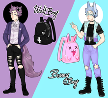 Contest Entry: Pastel Goth Boys by MaryLittleRose