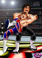 The Hitman v Dynamite Kid V2 by TonyForever