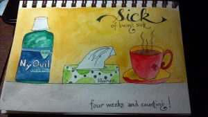 Sick - Journal Entry by DragonflysDaughter