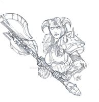 Hasty Sketch by bloodwise