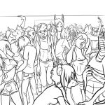 Lineart- Boys Hit the Rave by Fyuvix