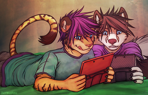 Day 3 - Playing Video Games by Intrufox