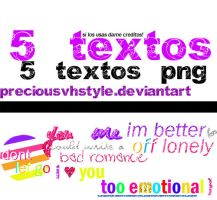 + 5 textos PNG. by preciousvhstyle