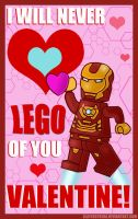 LEGO Valentine: Iron Man by SlayerSyrena