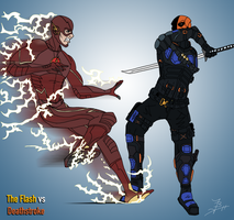 The Flash VS Deathstroke (CW Show Versions) by JustinTimePro