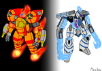 [Concept idea] Fire Osprey and Ice Bomber by Mechanized515