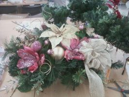 Christmas Floral Arrangement by DarkestFae5190