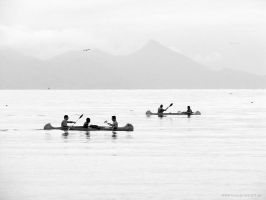 Canoeists by luiscds