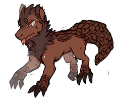 Pangolin dog 5$ by pitbullie