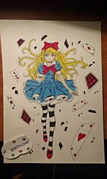 Alice in Wonderland [Dibujo] by YOOSH-CHAN