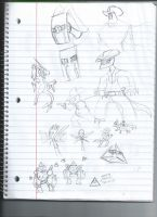 Some doodles by MaximumSpazzitude