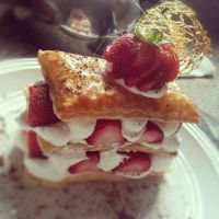 strawberry mille feuille. by sorekara