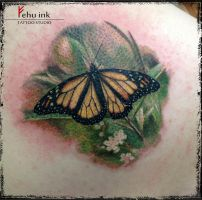 Butterfly tattoo by ellegottzi