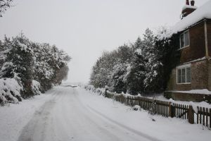 further up ridgeway in snow by loobyloukitty