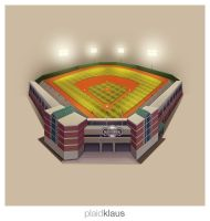 Building Illustration: Salem Red Sox Field by plaidklaus