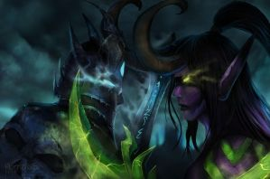 The Lich King verses Illidan Stormrage- WoW by Hamzilla15