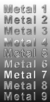 Metal Text Styles by ArtoriusGothicus