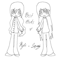 Kyle and Squidey Line art by Squidey