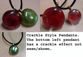 Updated Crackle Style Pendants by lcponymerch