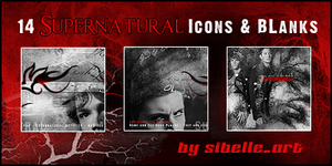 Supernatural icons and blanks by Sibelle