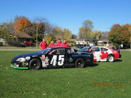 two dodge race cars and the teams by catsvsfox
