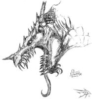 Sketch Series - Dragon 5 by darthhorus