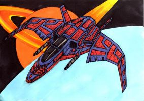TerranAlliance P-3 Starfighter by akaga