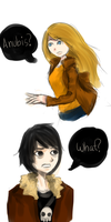 That One Time Sadie Mistakes Nico For Anubis by Isacax