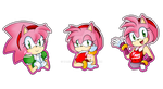 Amy Rose Evolution by Kamira-Exe