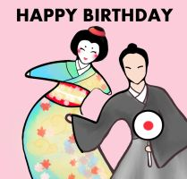 Japanese birthday celebration by Suelette