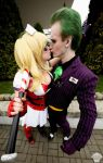 Harley Quinn (Arkham Asylum) and Joker 3 by ThePuddins