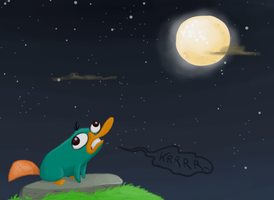 Chattering at the Moon by SecretagentG