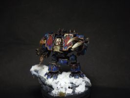 Chaos Space Marines Nightlord Dreadnought by Brovatar