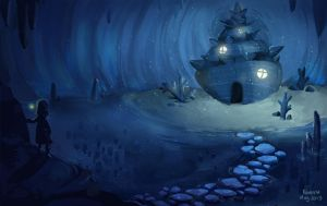 The shell in the cave by Pepperina
