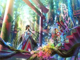 anime-paradise-beautiful-shrine by lavaria-chan