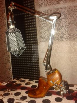 hand made lamp from recovered materials 2 by zanderednaz