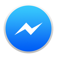 Facebook Messenger Icon for Yosemite by josselinco