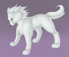 Shiin The White Wolf by That-Stupid-Dingo