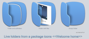 Welcome home- Live Folders icons by tchiro