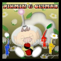 Pikmin and Olimar Chao by CCgonzo12