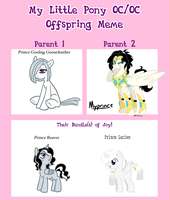 MLP Offspring Meme Goslign and Myprince by The-Clockwork-Crow