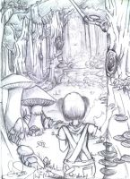 .the mushroom forest pencil sk by ilurisa