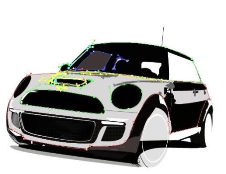Car with Vectores, free hand by HelenaIlus