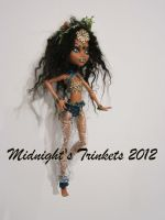 one of a kind monster high kali nile repaint by midnightstrinkets