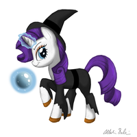 Rarity the Sorceress by 9CentsChange