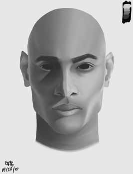 Face Form Study 1 (DAY3) by UpDownReverse