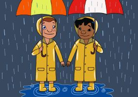 Lilo and Victoria in the rain by danielnewton