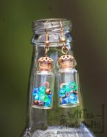 Jar of Bits and Gears Earings - FOR SALE by WitTea