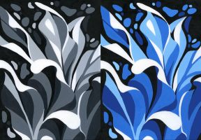 2D-Design_assignment2_monochromatic diptych by MoonLightRose17